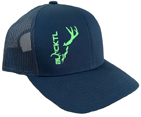 BlackTL Deadhead Hat Green on Black / Black