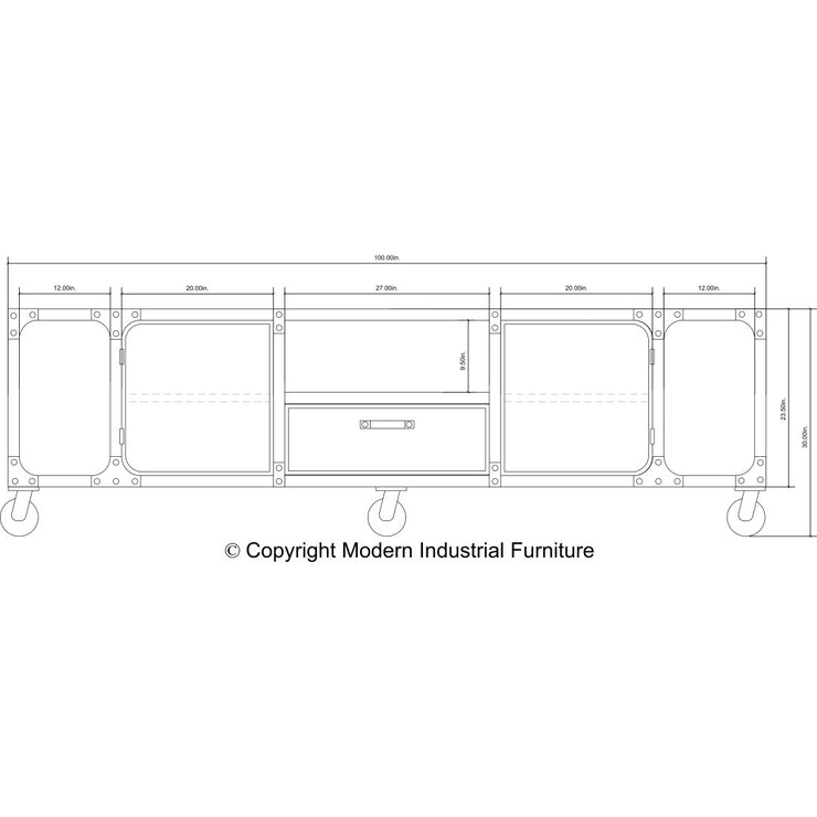 Carnegie 100-inch - Red Casters