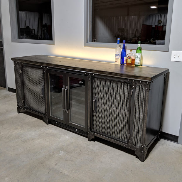 The Anvil Industrial Bar & Beverage Cabinet