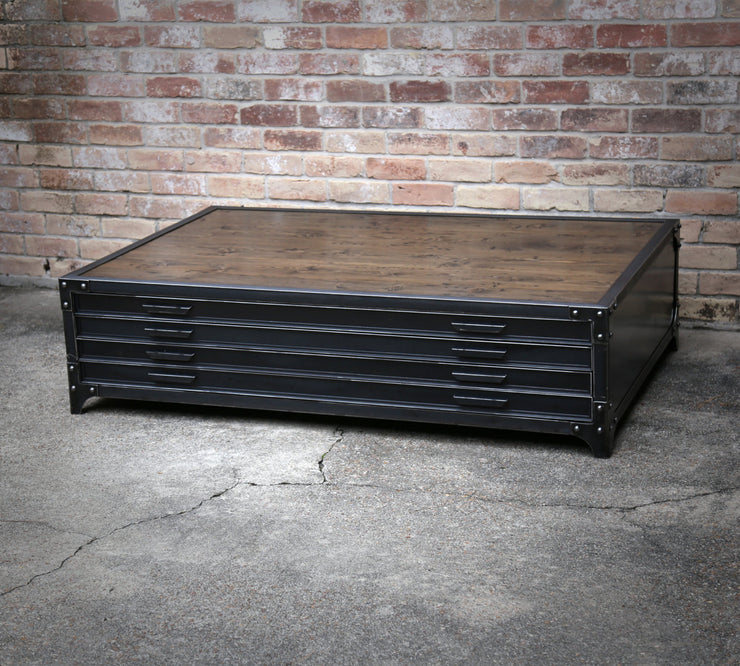 Flat File Industrial Coffee Table