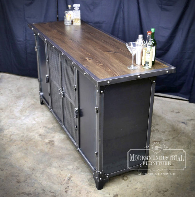 Carnegie Home Bar Cabinet Modern Industrial Furniture