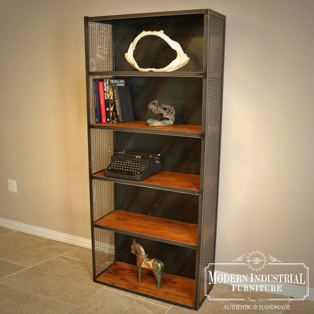 Rolling Steel Bookcase