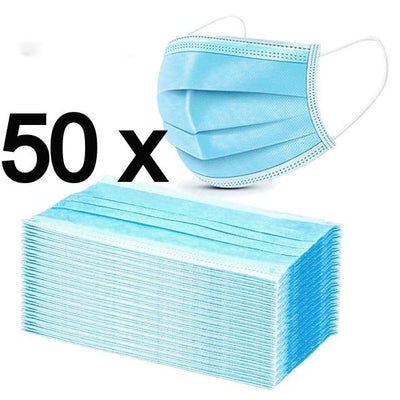 50x Face Mask Surgical Disposable CE IIR Mouth Nose Cover