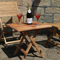 Solid TEAK Square Folding Picnic Table Outdoor Garden Furniture or Conservatory