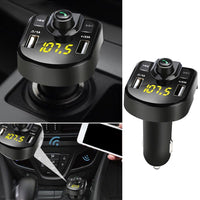 Dual USB Wireless Bluetooth Kit Car MP3 Player Handsfree FM Transmitter Car Charger