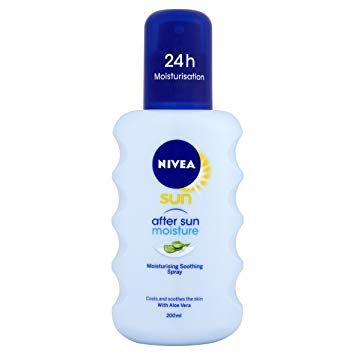 Nivea Sun After Sun Moisturising Soothing Spray Lotion Aloe Vera 200ml
