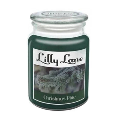 Lilly Lane Christmas Pine Scented Candle Large 18oz Glass Jar Winter Xmas