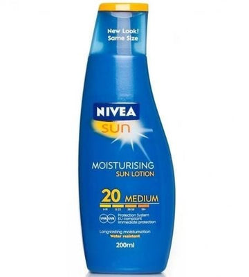 Nivea Sun Moisturising Sun Tan Cream Lotion SPF20 200ml