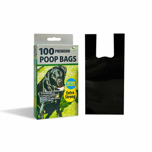 Dog Poop Bags Box of 100 Premium Fragranced Tie Handle