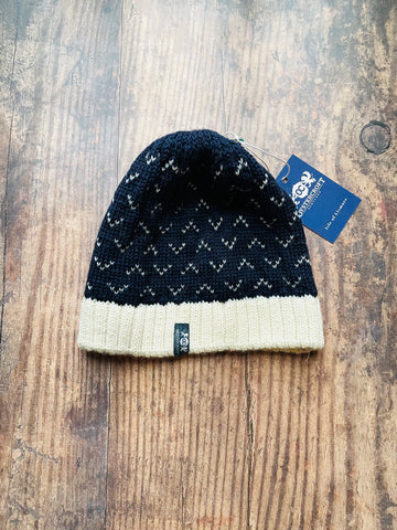 Oystercroft - A fisherman's navy and cream Beanie
