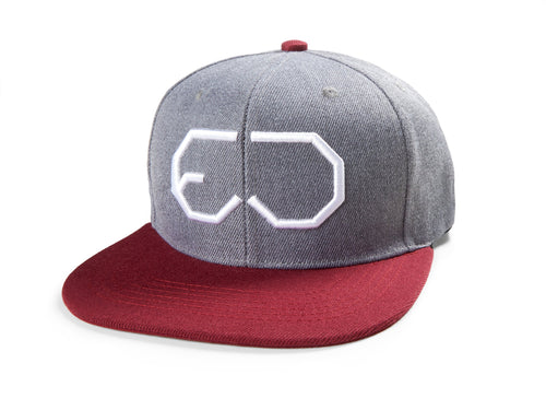 EJ division - Rocky Mountain Grey/Red Snapback Cap - EJ division