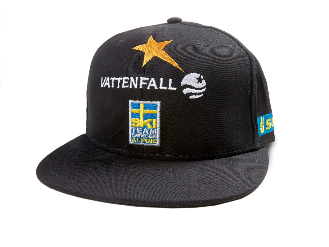 Ski Team Sweden - Black Snapback Cap