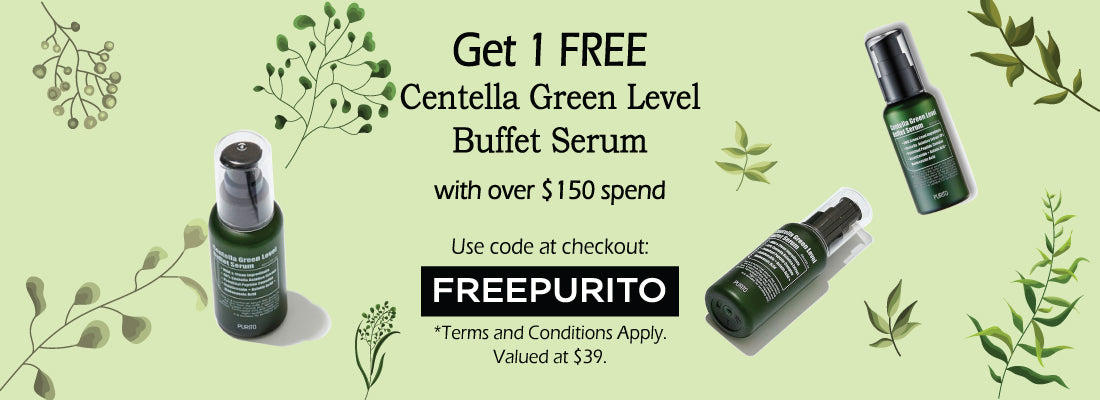 Free PURITO Centella Green Level Buffet Serum with over $150 spend online | BONIIK Australia