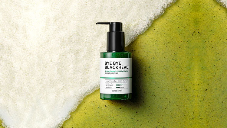 SOME BY MI Bye Bye Blackhead 30 Days Miracle Green Tea Tox Bubble Cleanser | BONIIK Best Korean Beauty Skincare Makeup in Australia