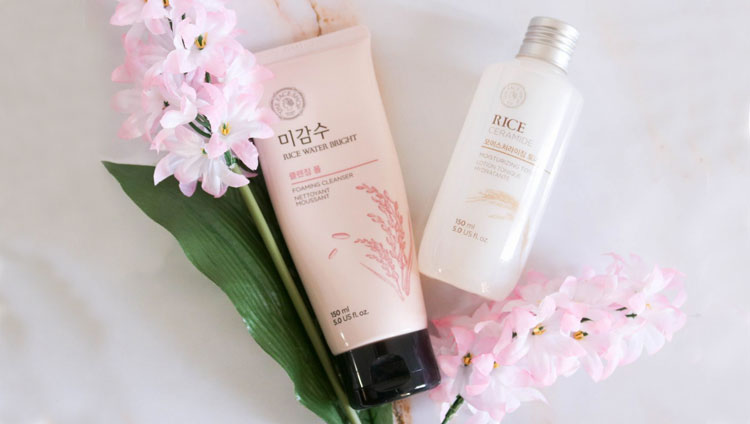 THE FACE SHOP Rice Water Bright Foaming Cleanser | BONIIK Best Korean Beauty Skincare Makeup in Australia