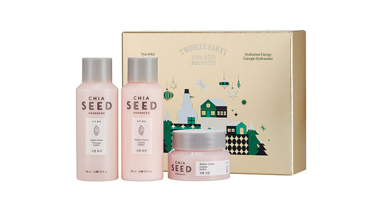 THE FACE SHOP Chia Seed Advanced Hydration Energy Holiday Travel Kit | Holiday sets | BONIIK