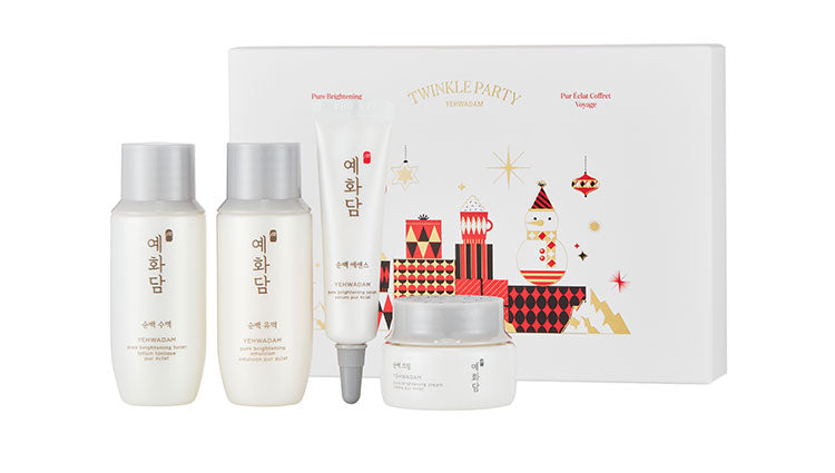 THE FACE SHOP Pure Brightening Holiday Travel Kit | Holiday sets | BONIIK