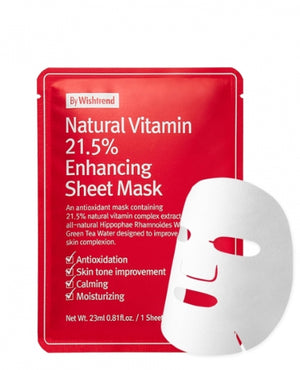 BY WISHTREND Natural Vitamin 21.5% Enhancing Sheet Mask | MASK | BONIIK