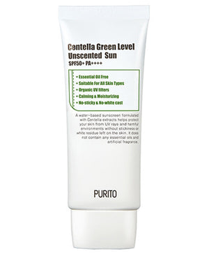 PURITO Centella Green Level Unscented Sun | Sunscreen for sensitive skin | BONIIK