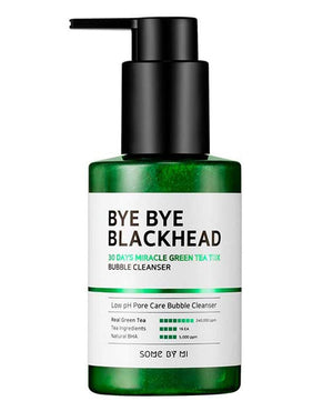 SOME BY MI Miracle Bye Bye 30 Days Blackhead Miracle Green Tea Tox Bubble Cleanser | Facial cleaser | BONIIK