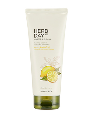 THE FACE SHOP Herb Day 365 Master Blending Foaming Cleanser - Lemon & Grapefruit | CLEANSER | BONIIK