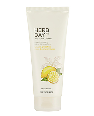 THE FACE SHOP Herb Day 365 Master Blending Cleansing Cream - Lemon & Grapefruit | CLEANSER | BONIIK