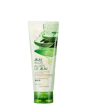 THE FACE SHOP Jeju Aloe Fresh Soothing Foam Cleanser | BONIIK Best Korean Beauty Skincare Makeup in Australia