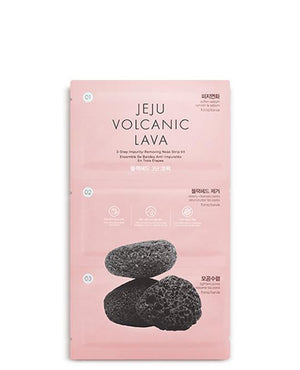 THE FACE SHOP Jeju Volcanic Lava 3 Step Impurity Removing Nose Strip Kit BONIIK Best Korean Beauty Skincare Makeup in Australia