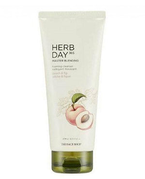 THE FACE SHOP Herb Day 365 Master Blending Foaming Cleanser - Peach & Fig | CLEANSER | BONIIK | Best Korean Beauty Skincare Makeup in Australia