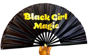 Black Girl Magic Satin Statement Fan