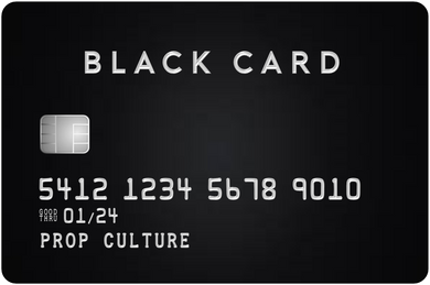 Black & Titanium Over-Sized Credit Card {Ready to ship 01.14}