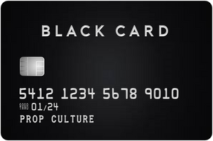 Black & Titanium Over-Sized Credit Card