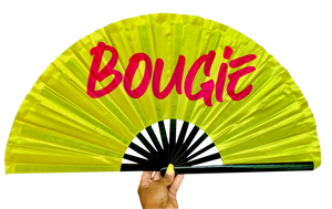 Bougie Satin Statement Fan