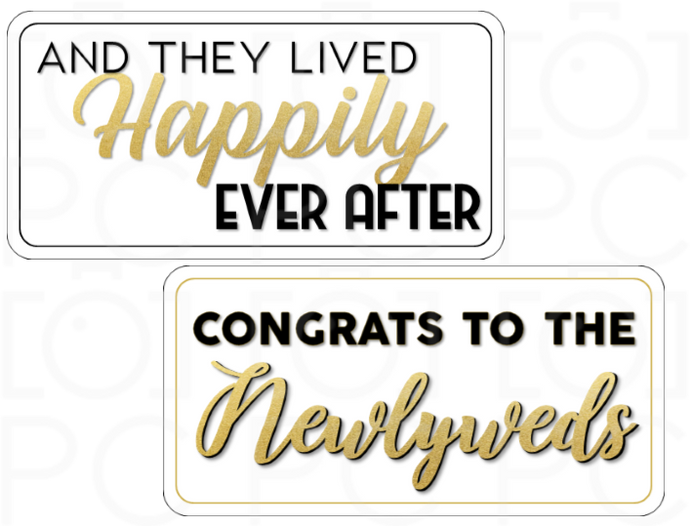 And they Lived Happily Ever After / Congrats to the Newlyweds