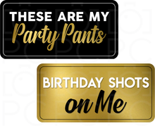Load image into Gallery viewer, Birthday Party Signs