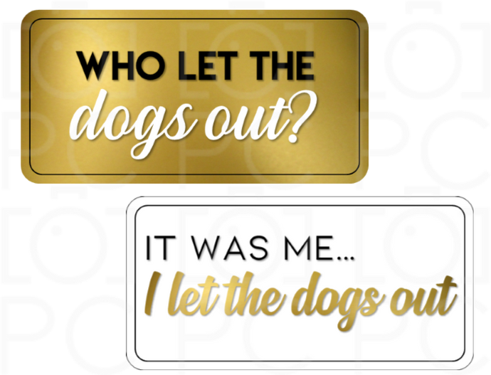 Who let the dogs out? / It was me... I let the dogs out