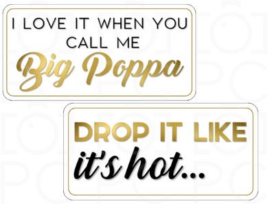I Love it when you Call Me Big Poppa / Drop it like it's hot...