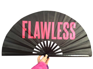 FLAWLESS Satin Statement Fan