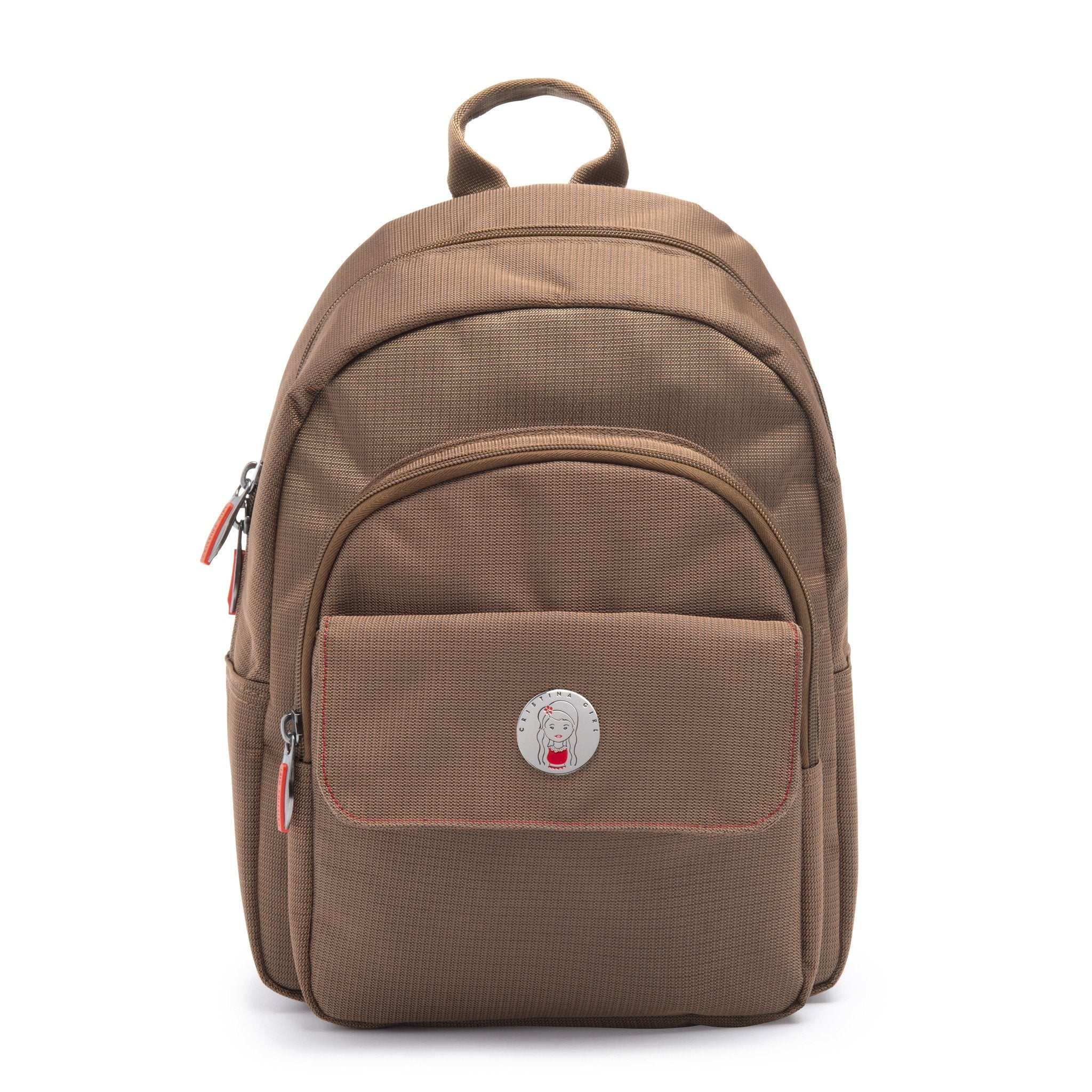 Cristina Girl Mini Backpack Nylon Koko Collection - Caramel