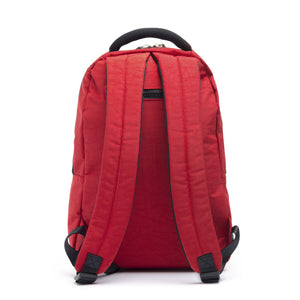 Cristina Girl Casual backpack Crinkle Nylon Lily Collection - Spanish Red