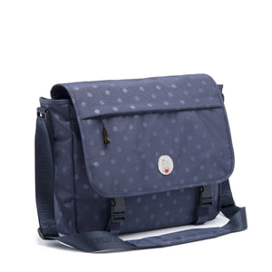 Cristina Girl Satchel Bag Nylon Ava Collection - Oxford Blue