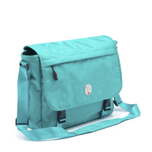 Cristina Girl Satchel Bag Nylon Ava Collection - Sea Green