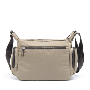 Cristina Girl Cross Body Bag Crinkle Nylon Lily Collection - Taupe