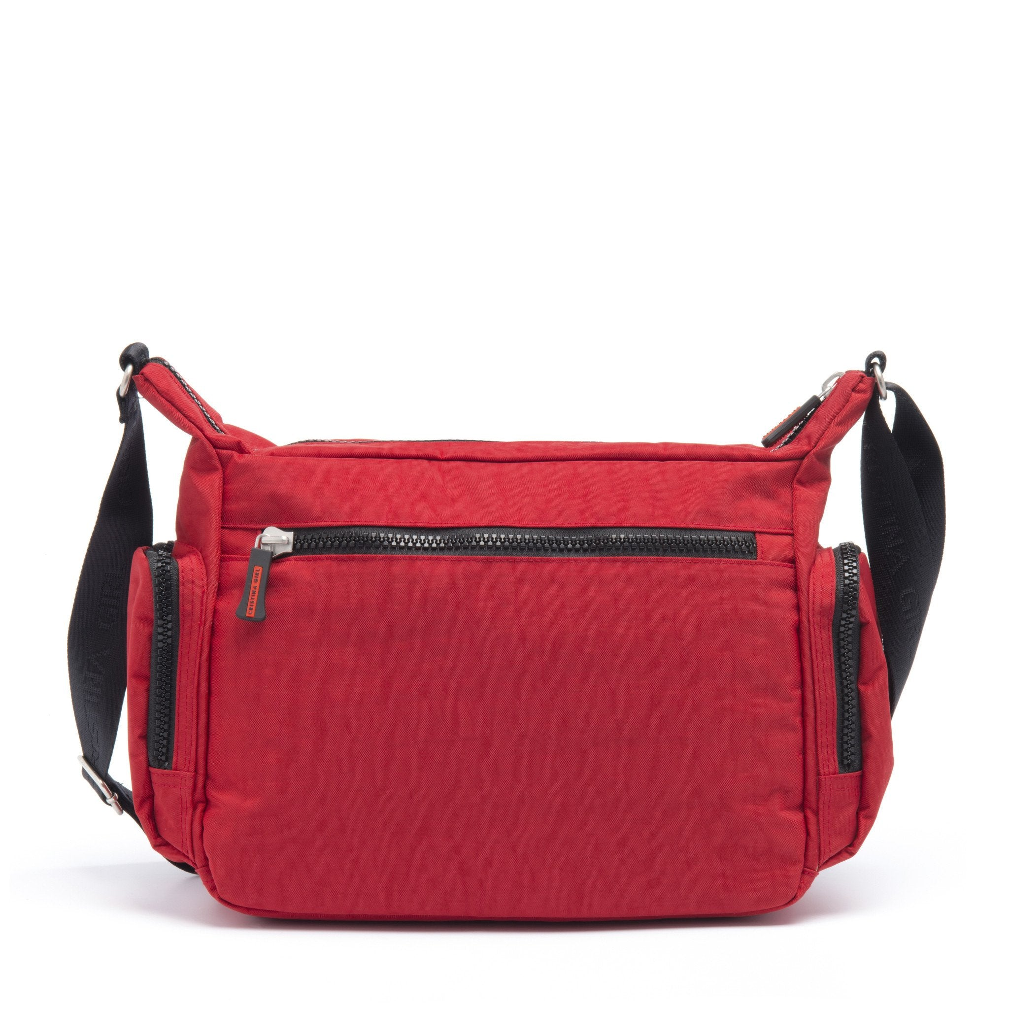 Cristina Girl Cross Body Bag Crinkle Nylon Lily Collection - Spanish Red