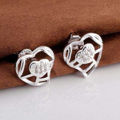 Rhinestone Embellished Heart Shape