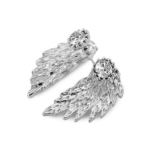 3D Vintage Diamond Alloy Angel Wing