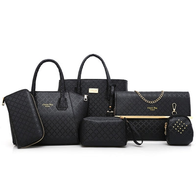 Argyle Pattern Handbag Set