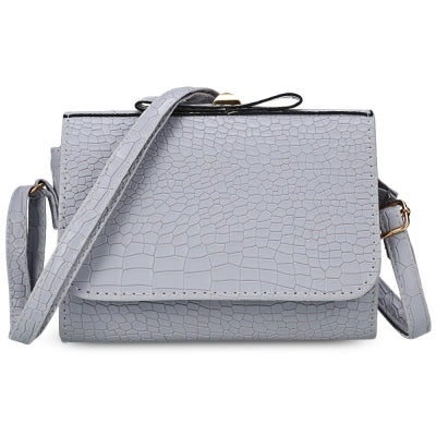 Crocodile Print Crossbody Bag