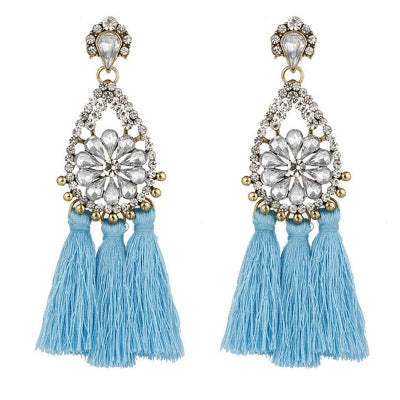 Crystal Long Tassels