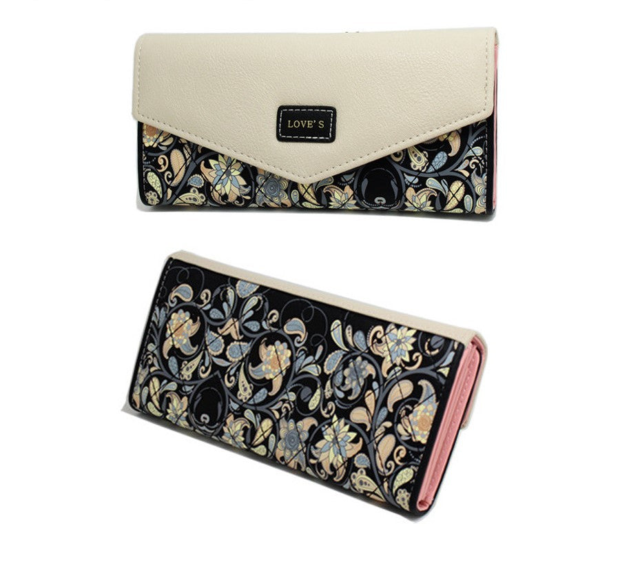 Printing Women Long Coin Purse